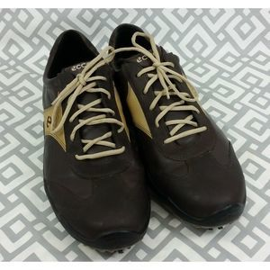 ECCO Hydromax Golf Shoes Cleats Spikes Brown